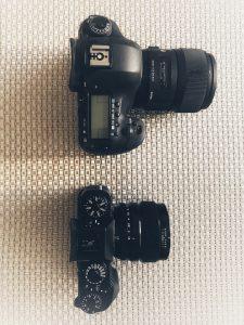 Aerial view Fuji xt-2 vs Canon 5dmiii